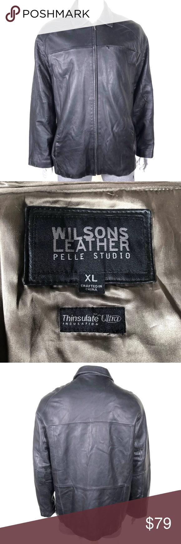 Wilsons Leather Thinsulate Ultra Jacket Zip Lining Wilsons