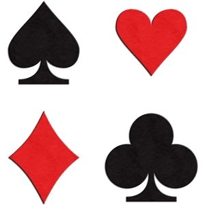 Silhouette Design Store Playing Card Suits Set Of 4 Diy Playing Cards Silhouette Design Silhouette Cards