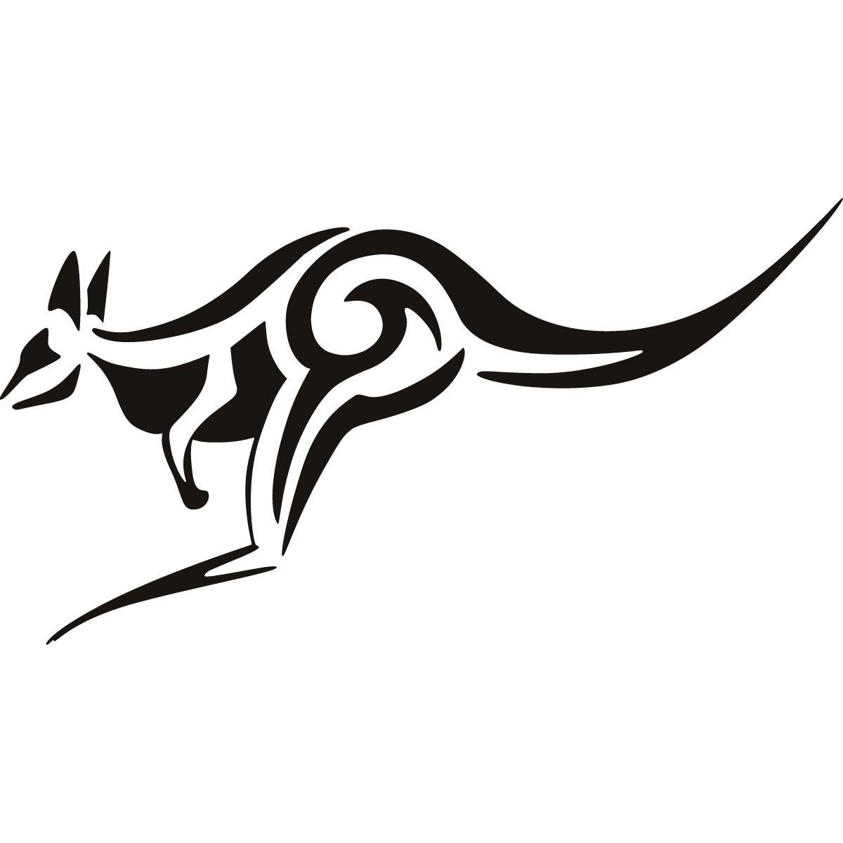 Tribal Kangaroo Animals Wall Art Stickers Wall Decal Transfers