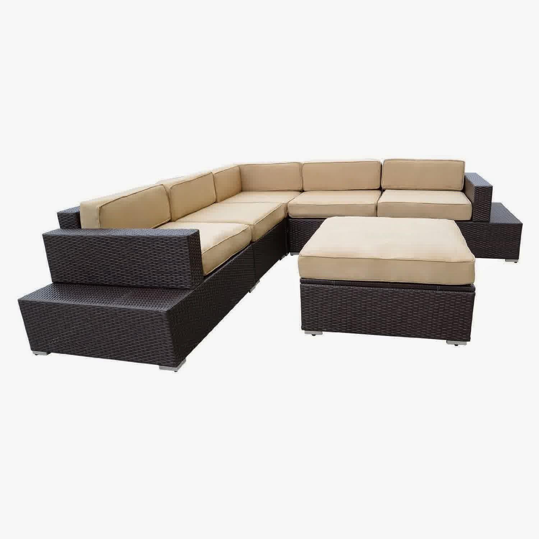Big Sale Discount 50% Outdoor Patio Rattan Sofa Wicker Sectional Furniture Sofa Set - Outdoor : discount patio sectional - Sectionals, Sofas & Couches