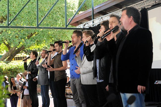 The Ten Tenors were at the launch of the Ekka. Picture: Paul Guy | Ekka 2012 launch | The Courier-Mail
