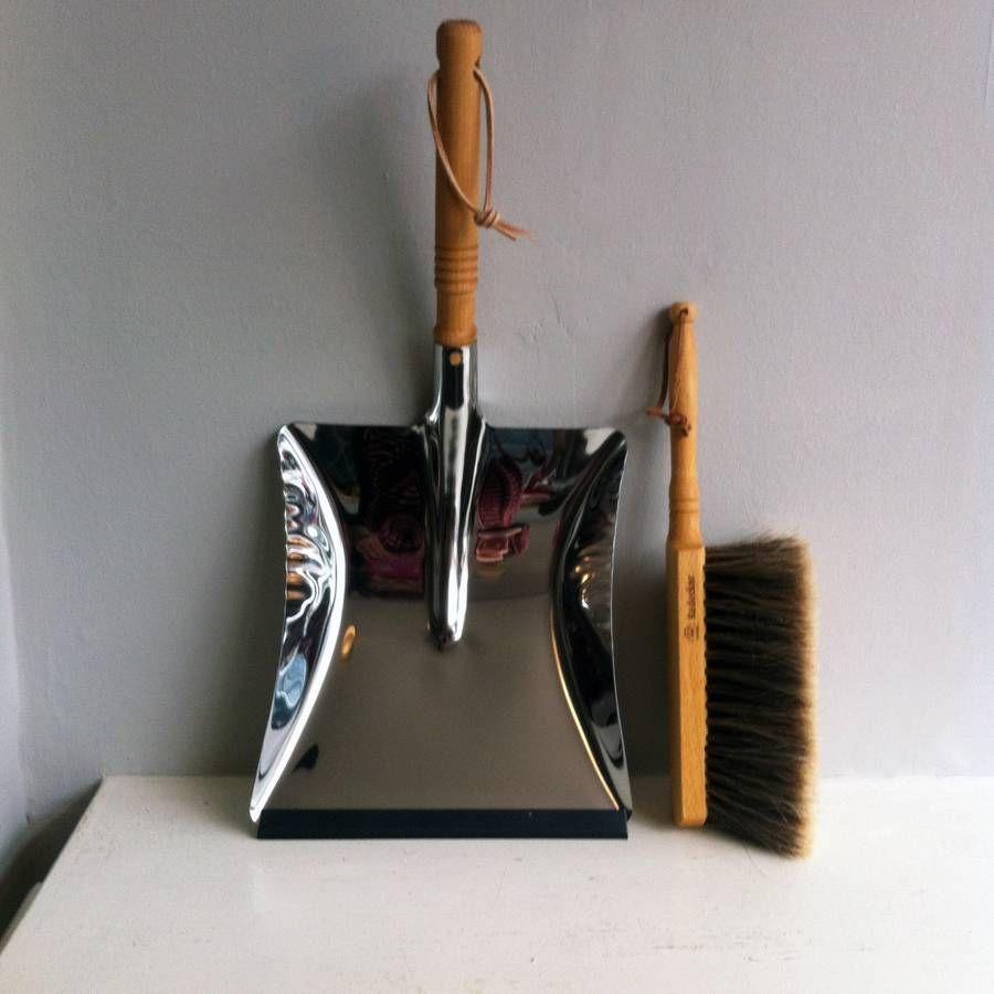 stainless steel dustpan and brush dustpan natural bristle brush