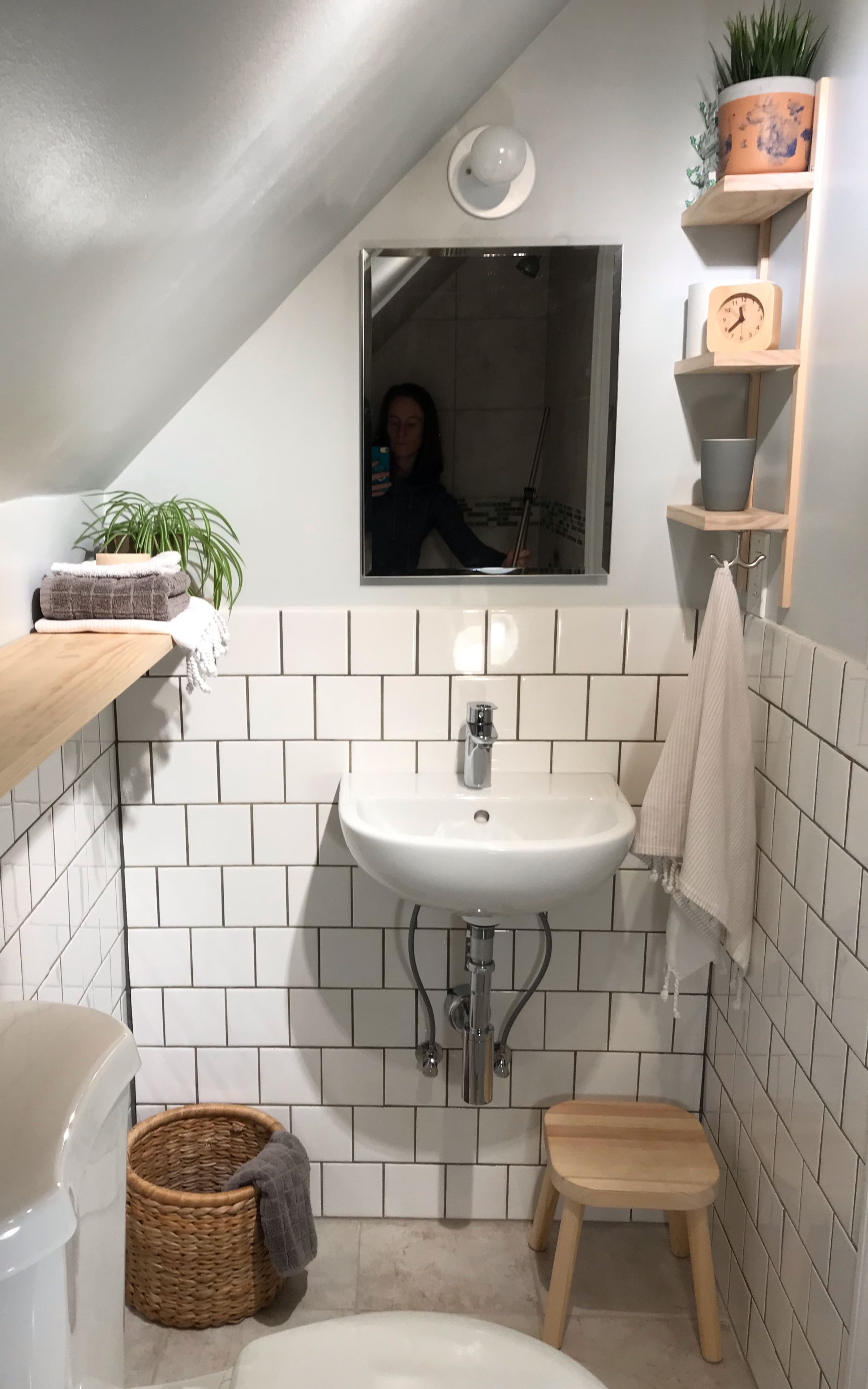 Tiny Bathroom Renovation Small Attic Bathroom Tiny Bathrooms