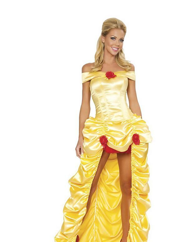 7205ceaa10c2dc Sexy Belle Costume | Adult Womens Disney Beauty and the Beast Halloween  Costumes