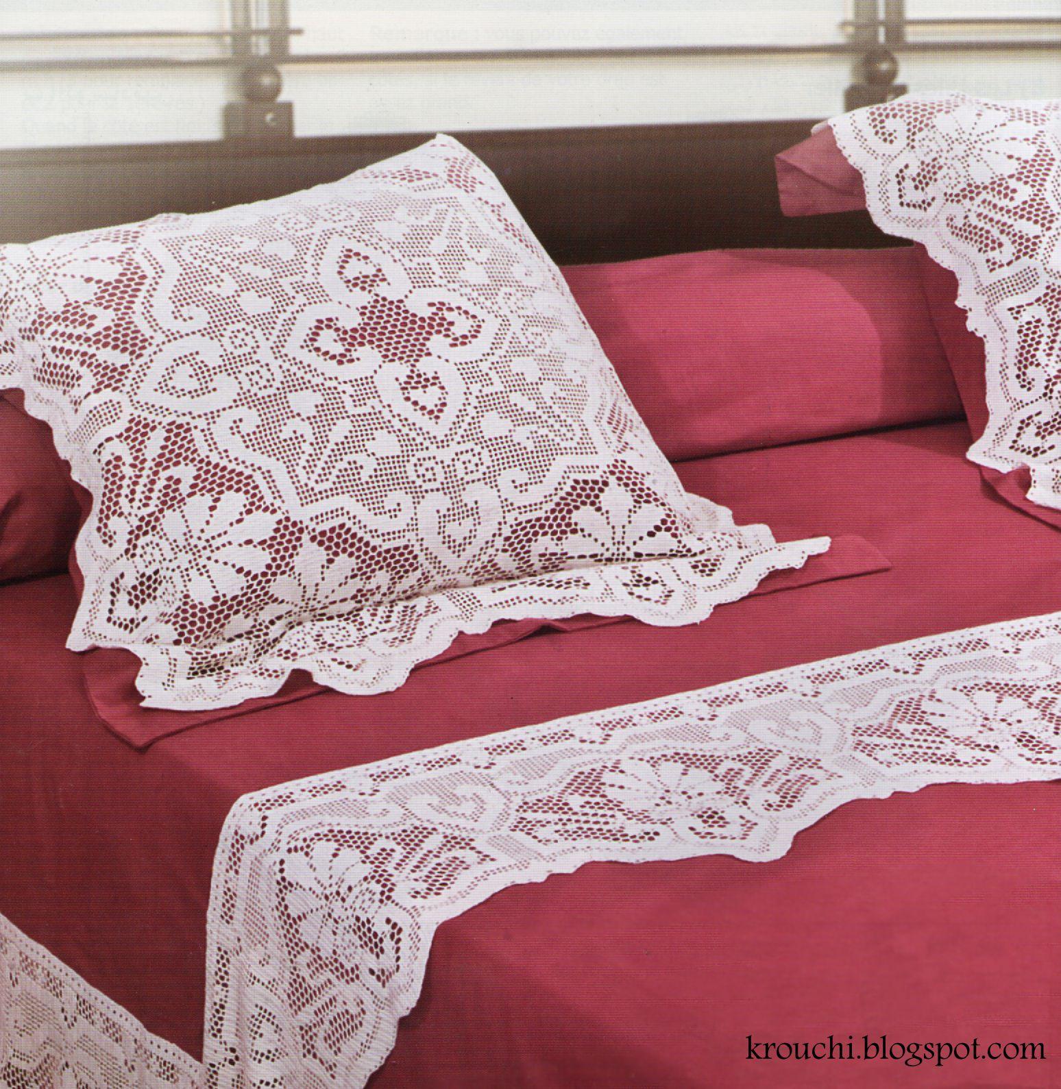 Crochet et Broderie: Parure de drap | Crochet home decor