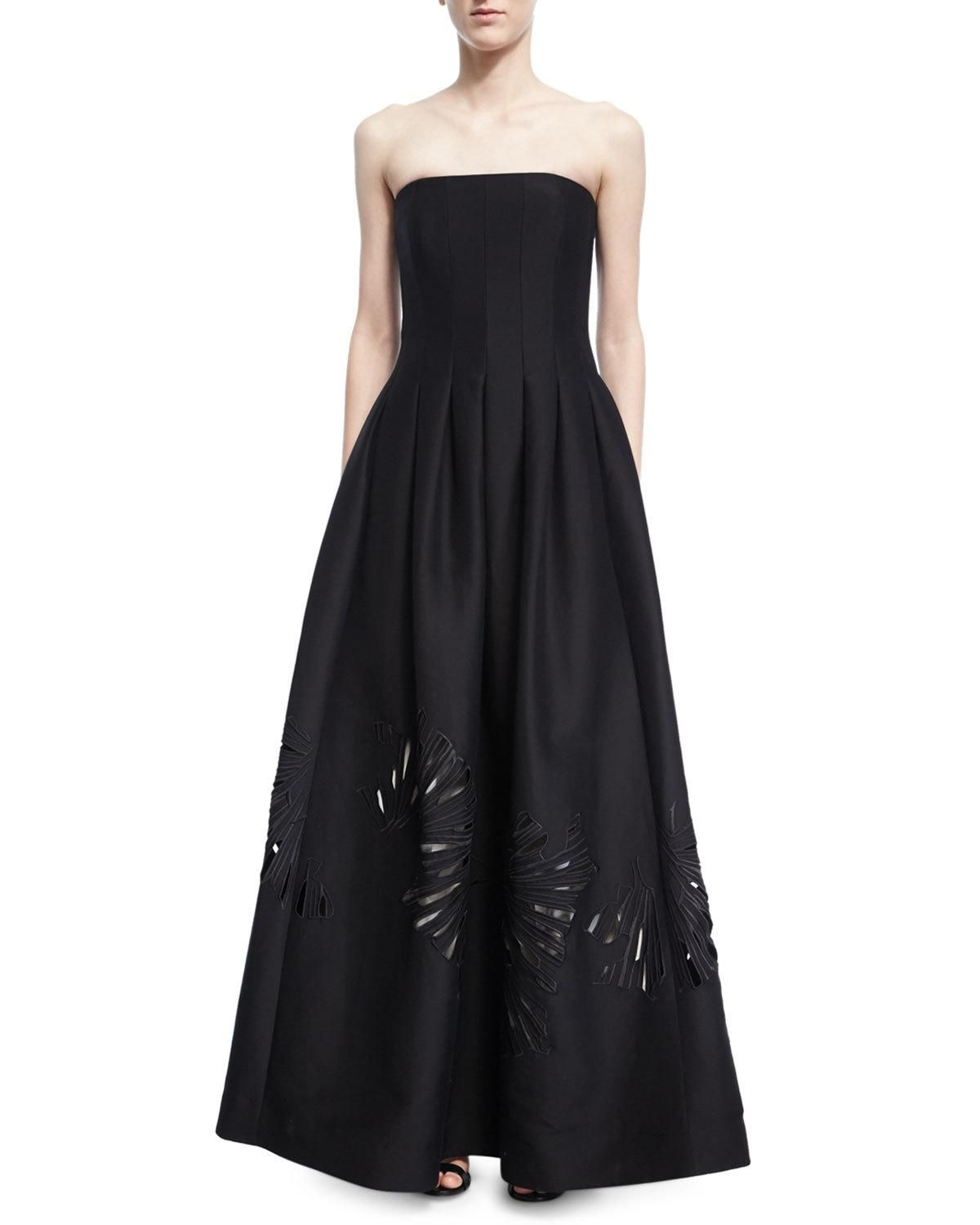Strapless Seamed Structured Ball Gown | Halston heritage, Free ...