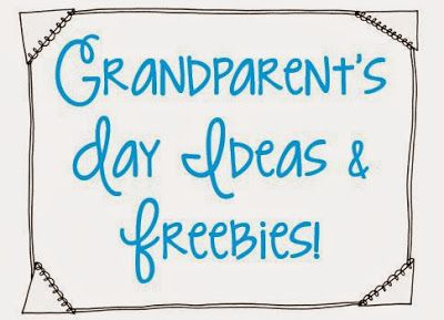 Grandparent's Day {freebies included   KindergartenKlub com