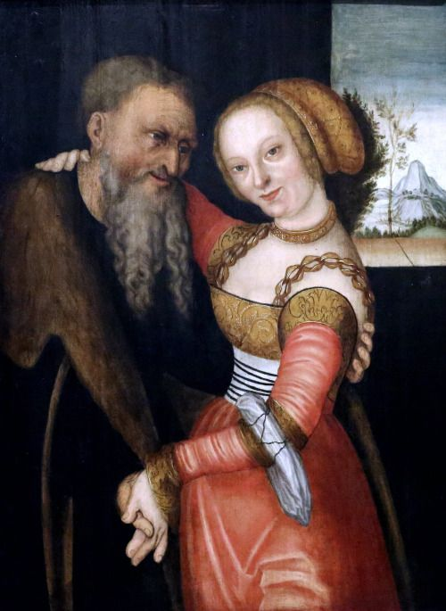 16th century Germany Old man and young woman Cognac Museum of Art