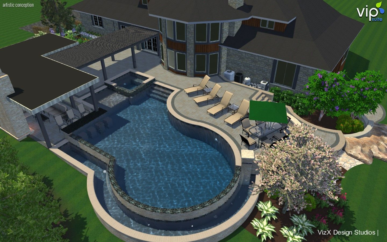 gunite pool design with reverse negative edge httpwwwvizxdesign