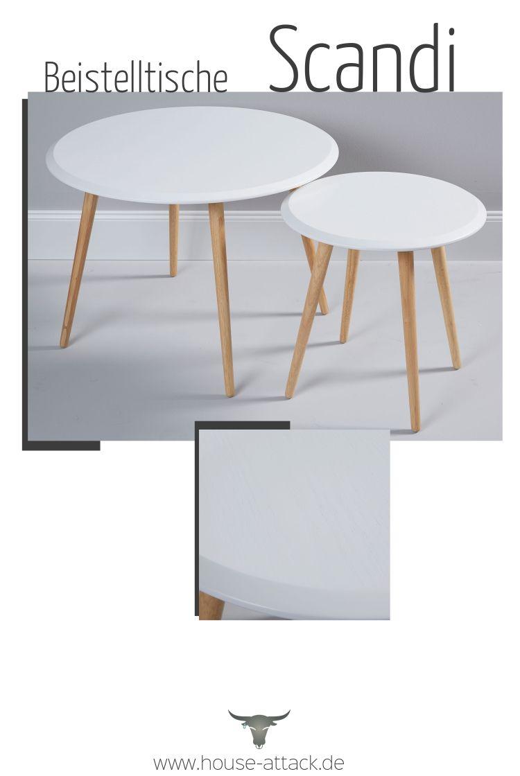 2er Set Beistelltische Beistelltisch Holz Couchtisch Weiss Holz Tisch