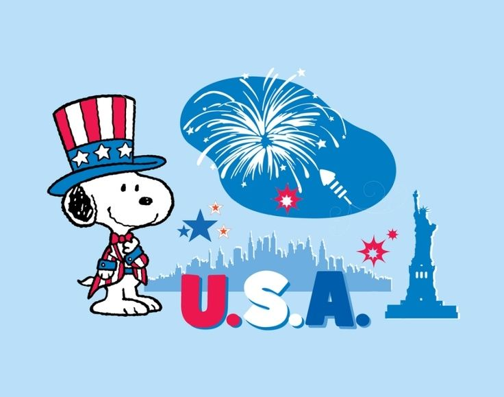 Image result for snoopy 4th of july clipart
