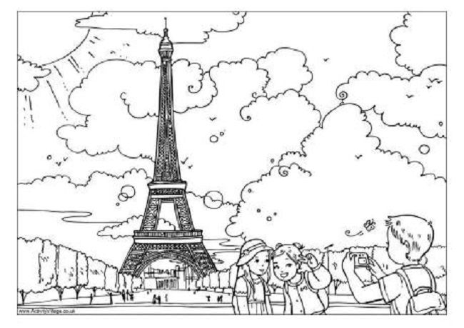 French Colouring Pages