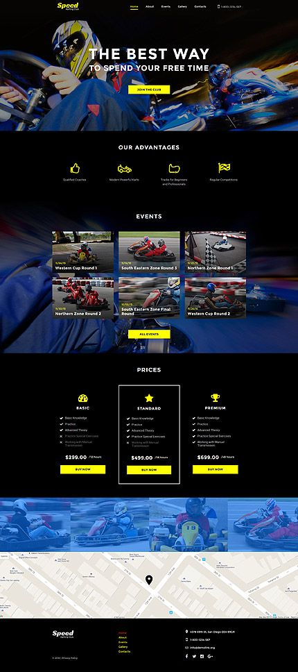 Template ID 58089 Web Design Website template, Website, Sports