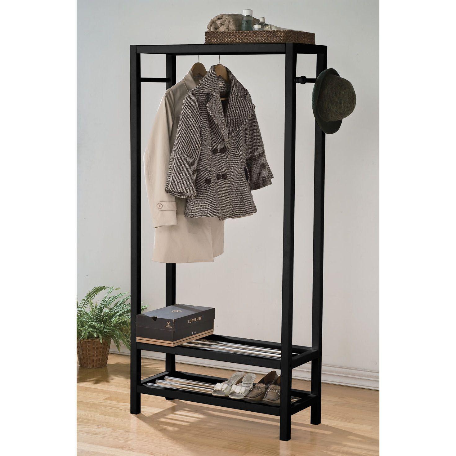 SUPER Heavy Duty 4ft Long Clothes Hanging Garment Rail Storage Shoe /& Hat Rack