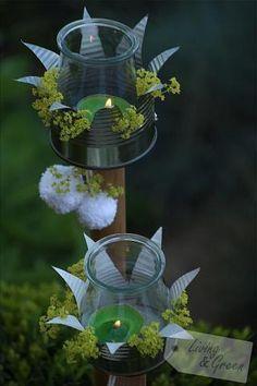 Candle-Light-Garden - Kerzenständer aus Dosen #hofideen