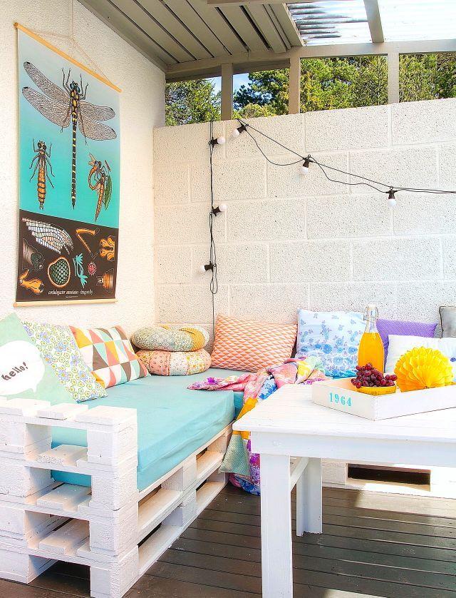 101 Holzpaletten Ideen für Ihr stilvolles Zuhause | Rooftop terrace ...