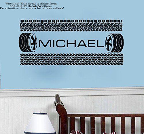 Boy Custom Name Wall Decal Vinyl Sticker Decor Nursery - Custom vinyl wall decals for garage