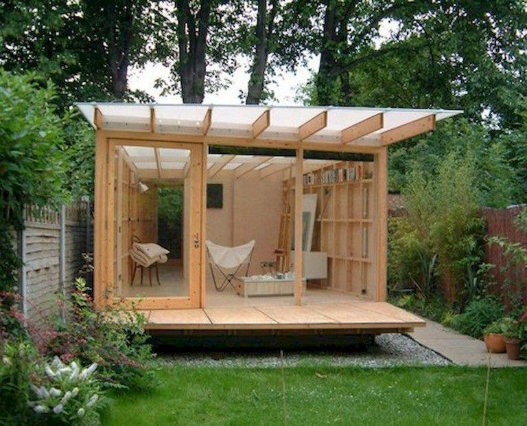 67+ Awesome & Comfy Backyard Studio Shed Design Ideas