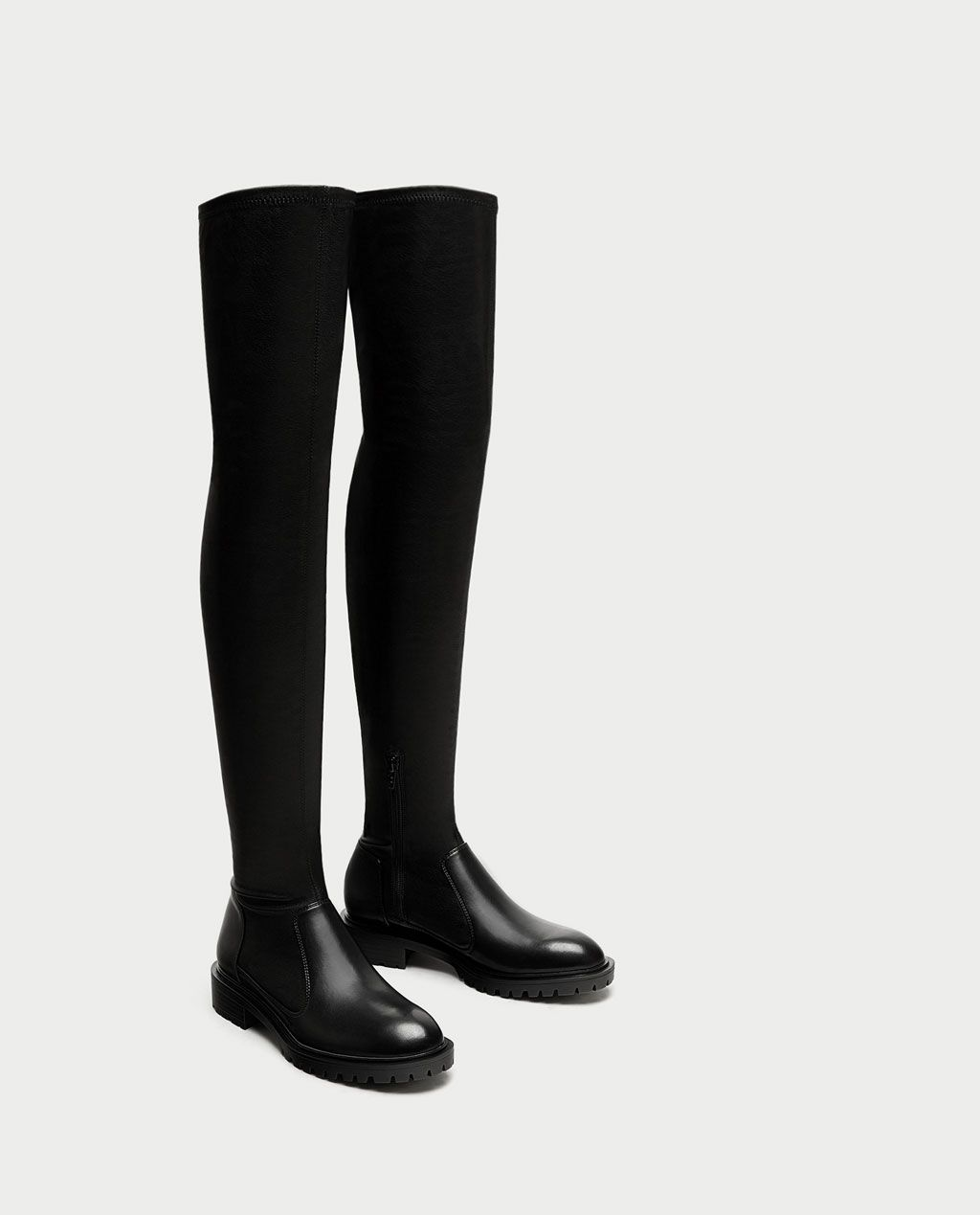 444d175624c FLAT OVER-THE-KNEE BOOTS WITH TOE DETAIL-View all-SHOES-WOMAN