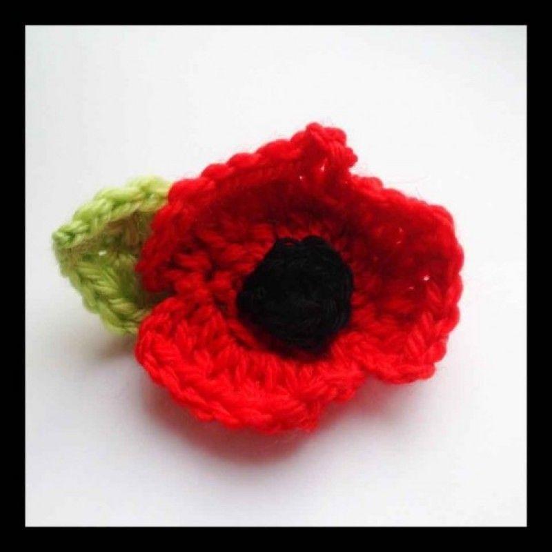 Free Crochet Poppy Brooch Pattern | Free Crochet Patterns ...