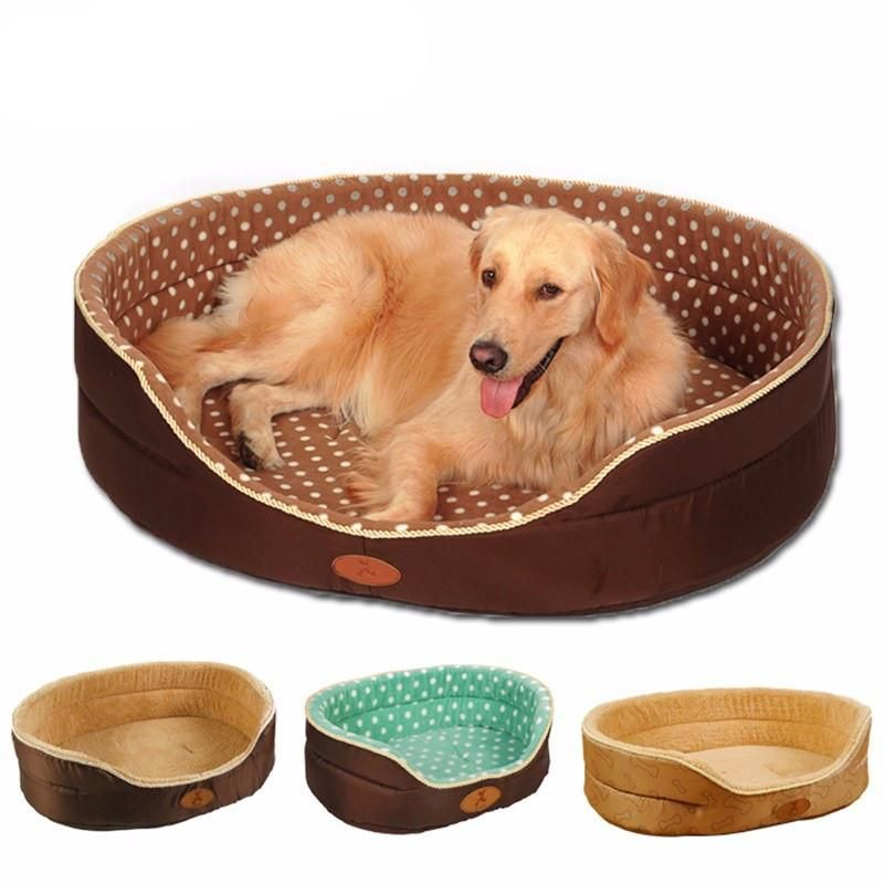 Double Sided Dog Kennel Big Size Extra Large Pet Bed Soft Fleece