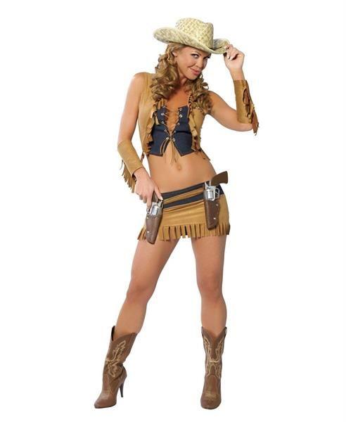 Новогодний костюм девушки шерифа секси