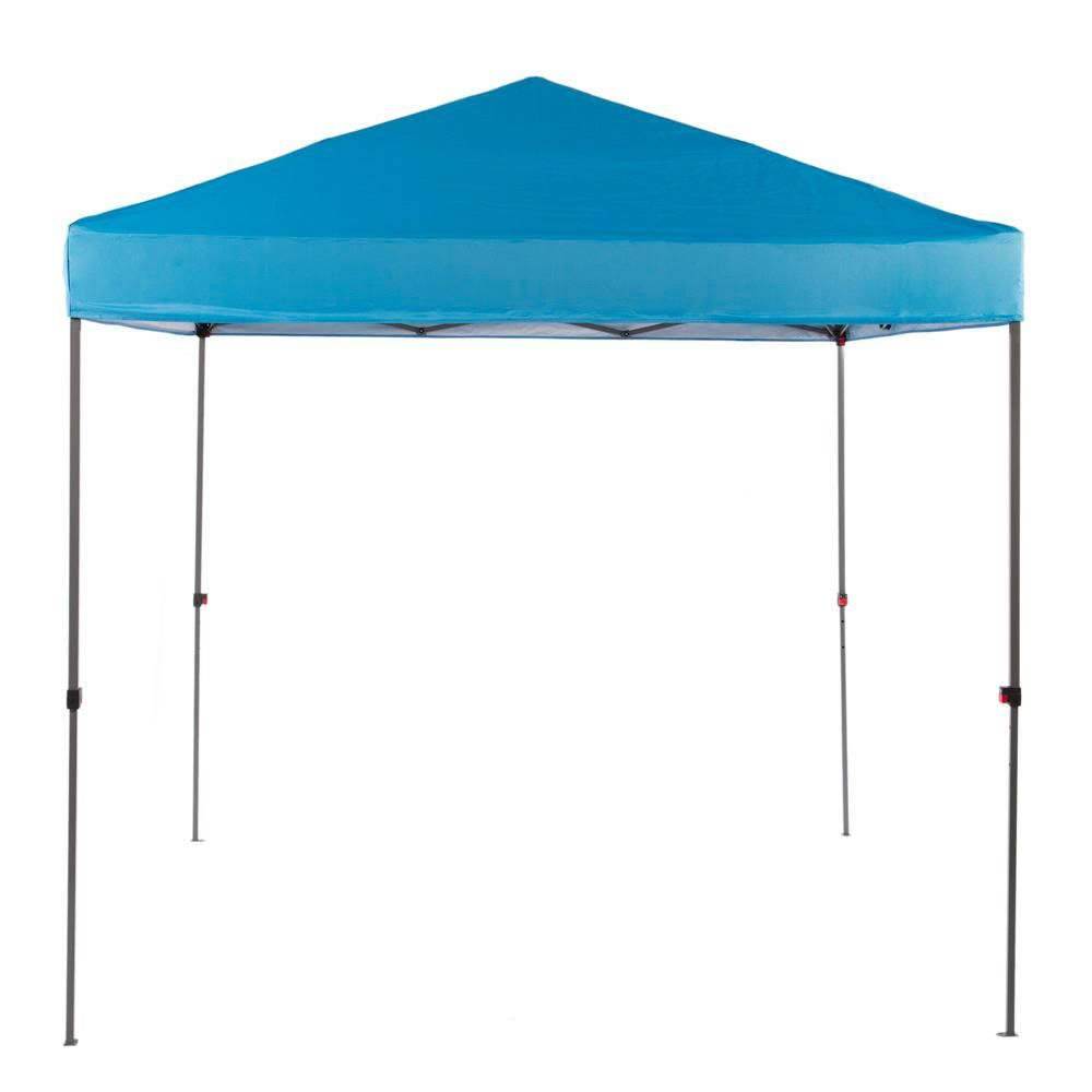 Everbilt Ns G64 B 8 Pies X 8 Pies Pabellon Vertical Azul Con Plataforma Recta Pop Up Tent Instant Canopy Pop Up Tent Gazebo Plans