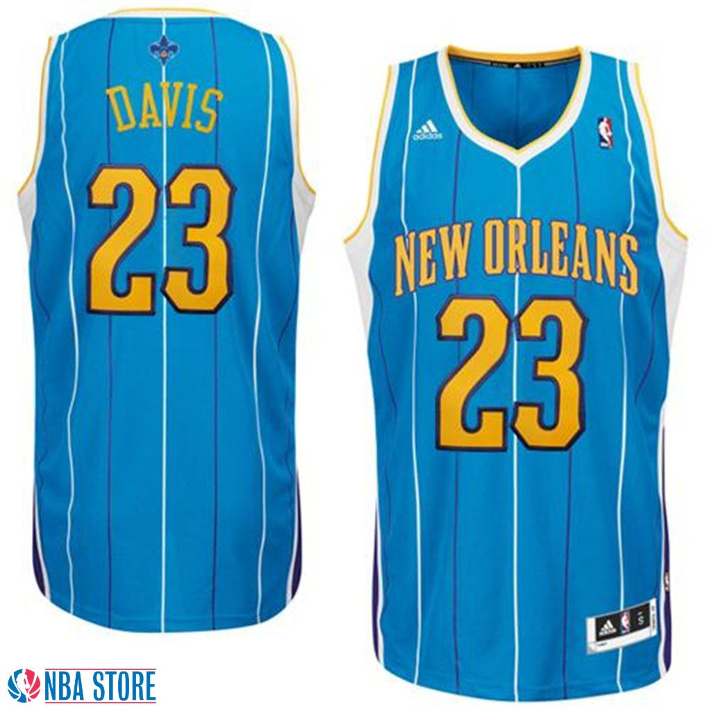 8be51a58847 Anthony Davis New Orleans Hornets Creole Blue Jersey