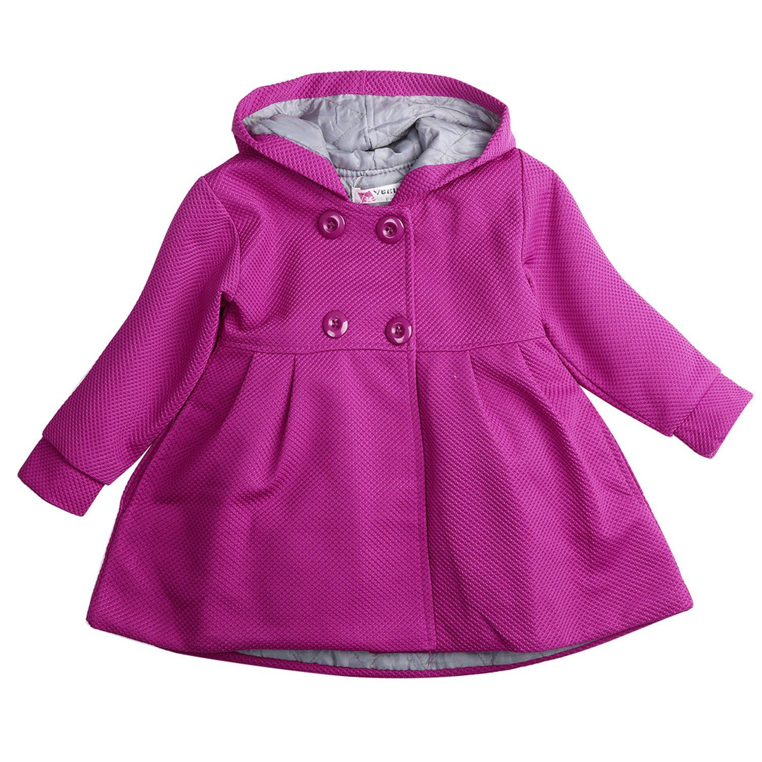 ece2989013f2 David Nadeau New Baby Toddler Girls Fall Winter Horn Button Hooded ...