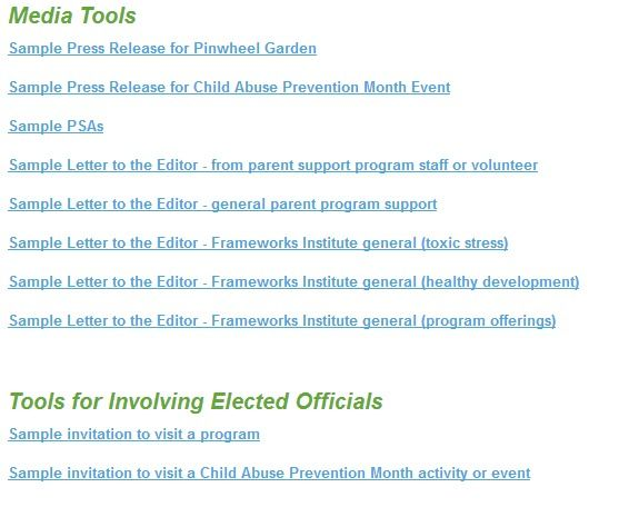 Need some tools to promote your April event for Child Abuse - Formal Invitation Letters