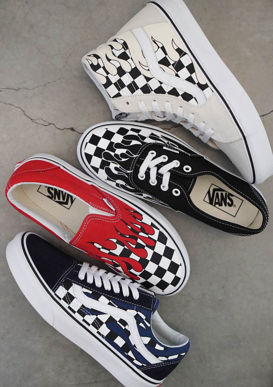2b011c27f5a Vans Checkerboard Flames!