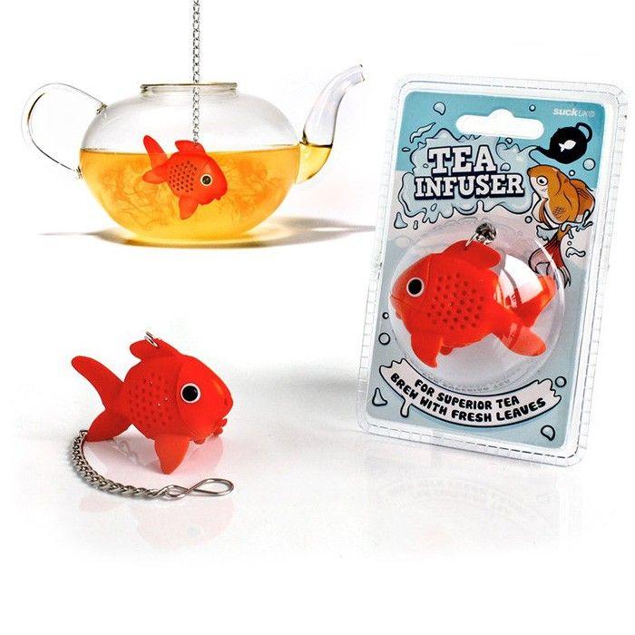 Infuseur boule th poisson rouge en silicone pour - Infuseur a the rigolo ...