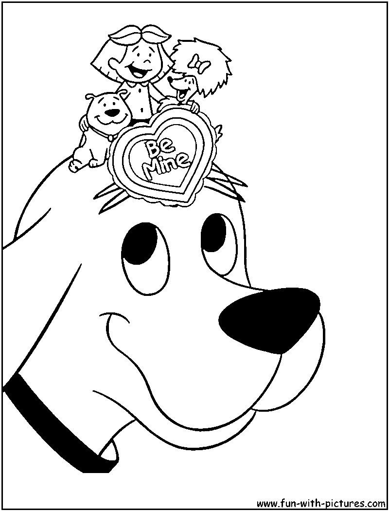 Clifford coloring page | Clifford | Pinterest