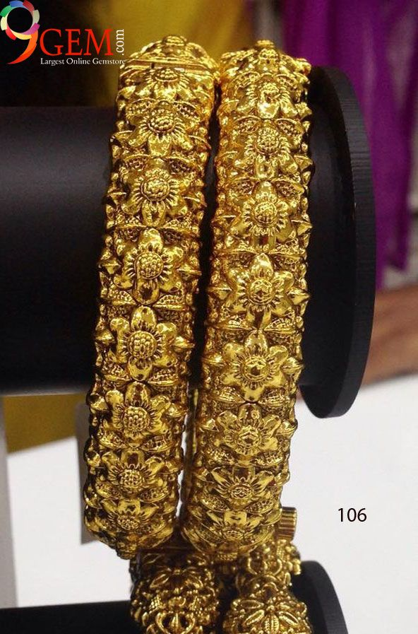 Buy Beautiful #Goldbangles to style your attire from http://9Gem ...