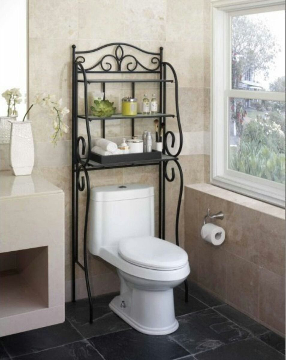 Mueble para ba o de hierro forjado en for Estante porta toallas para bano