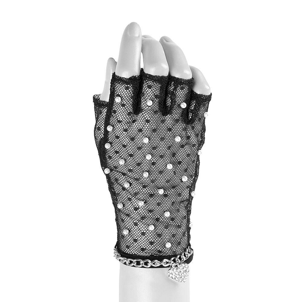 Claires black gloves - Katy Perry Mesh Gloves With Pearls Claire S