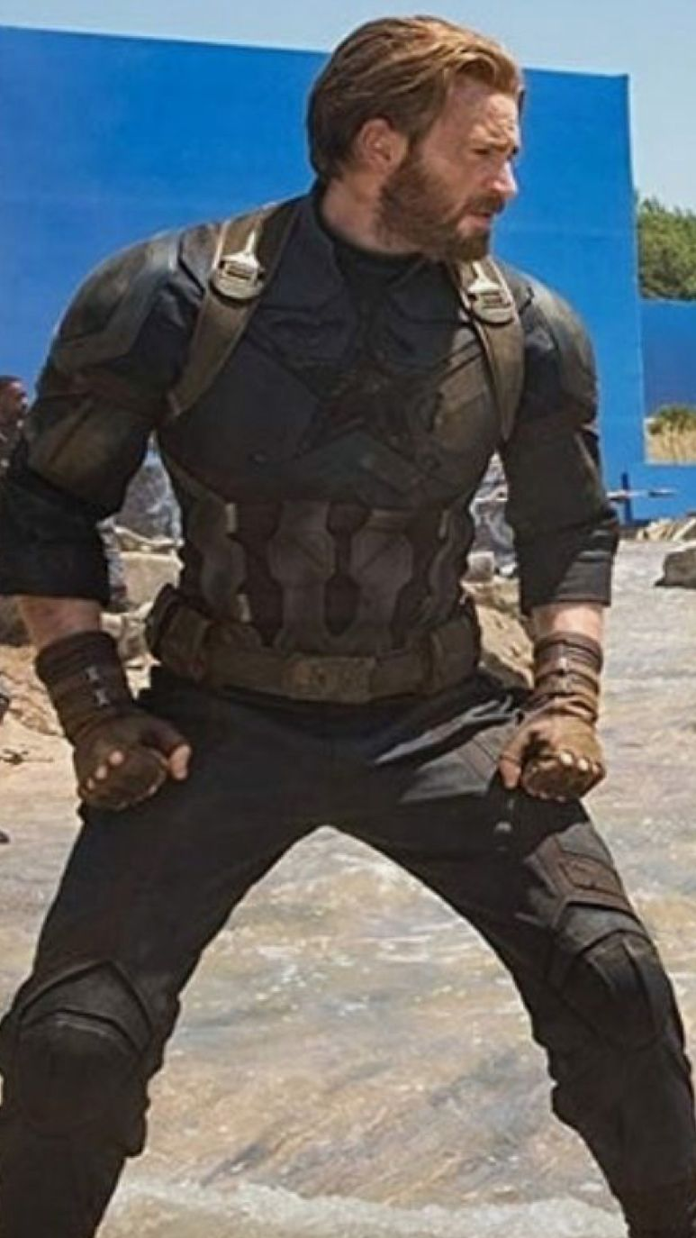 Captain Steve Rogers, on the set of Avengers Infinity War | Captain