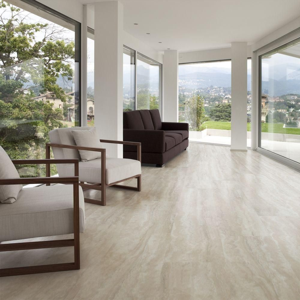 Travertine Floor Kitchen Trafficmaster Allure Ultra 12 In X 2382 In Aegean Travertine