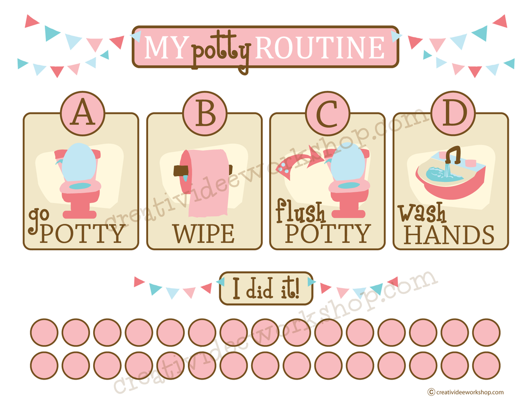 potty training chart for girls