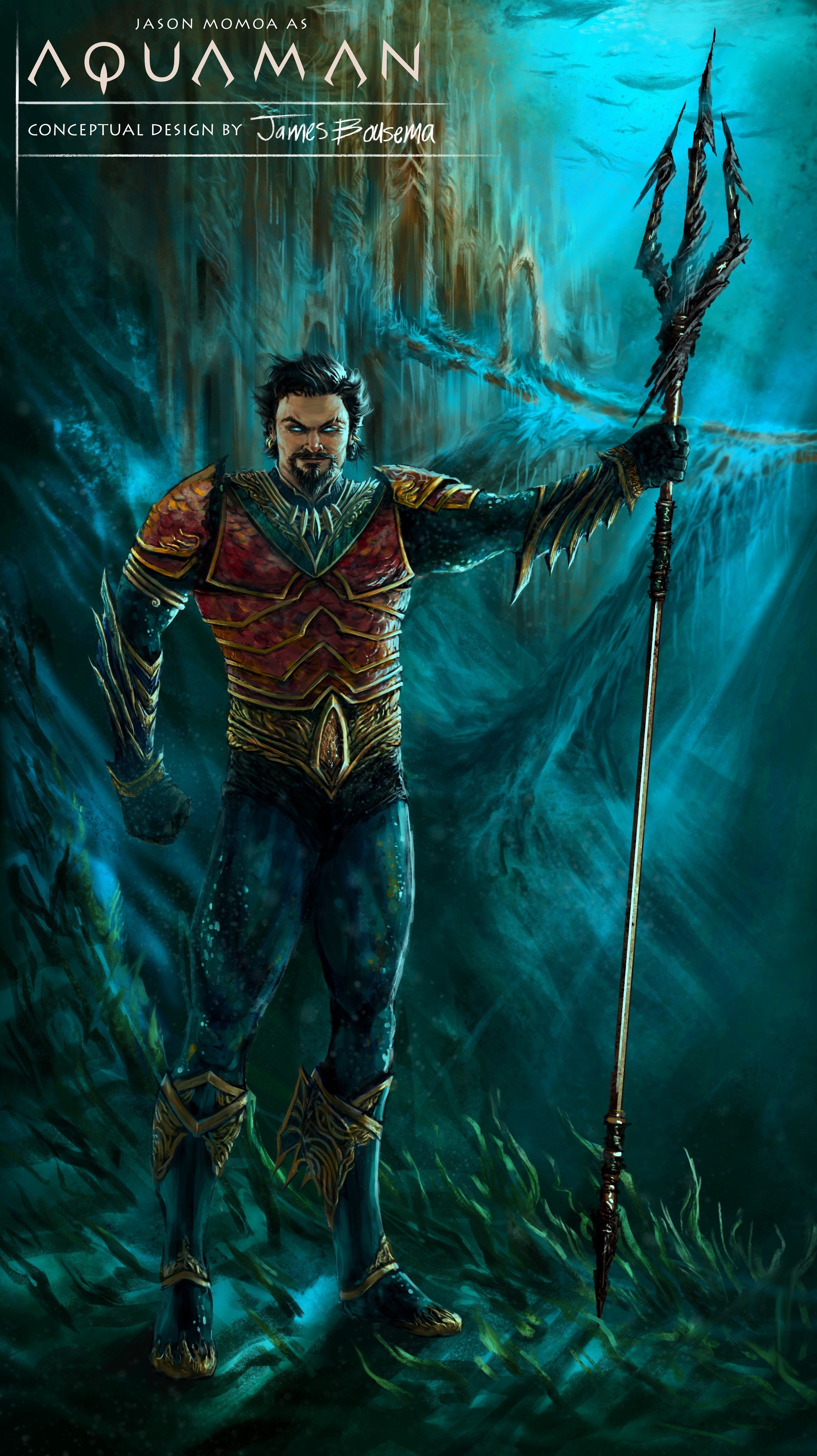 Jason Momoa As Aquaman Costume Concept Art With Images Jason