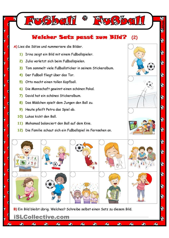 Fußball_Welcher Satz passt zum Bild? _ 2 | DEUTSCH 2 | Pinterest