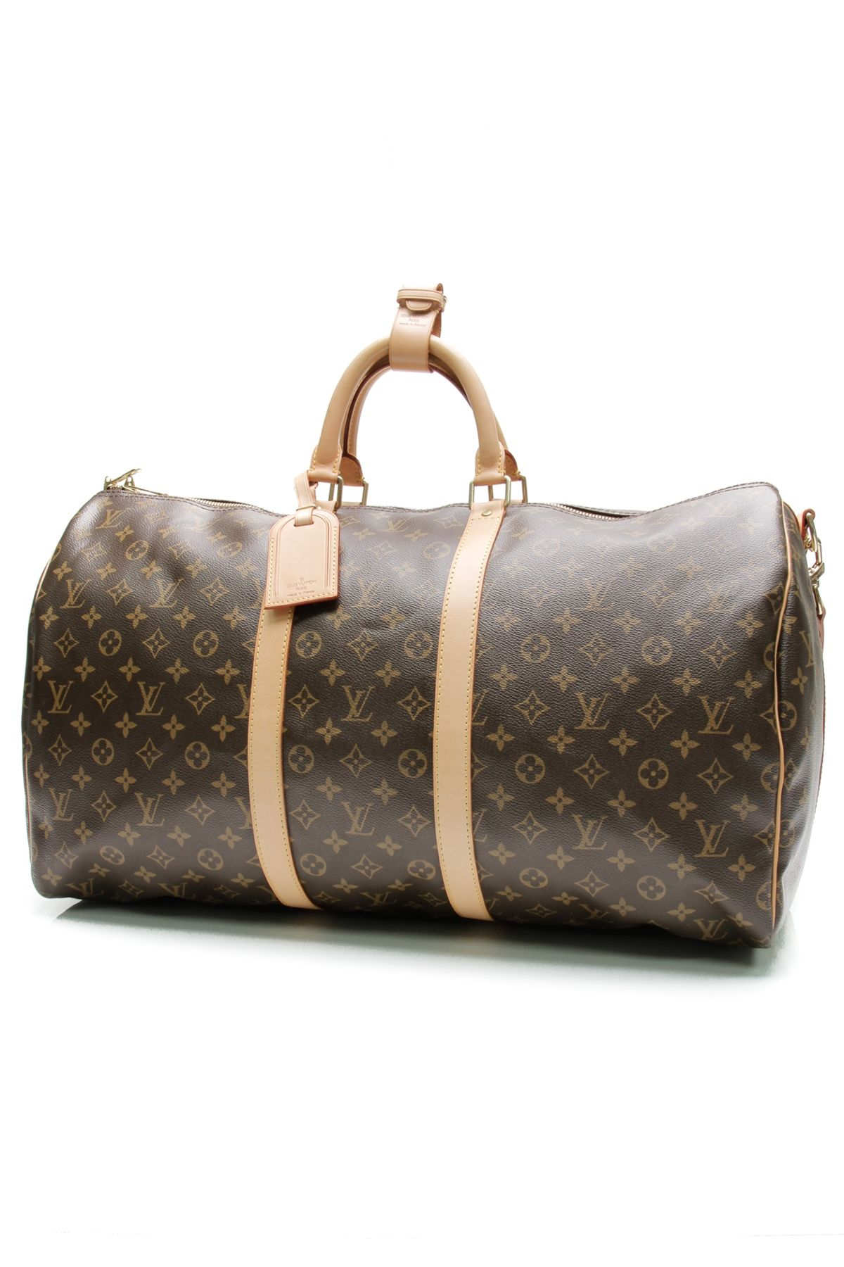 9b960535c2d8 Louis Vuitton Monogram Canvas Keepall Bandouliere 55 Travel Bag Our Price    1