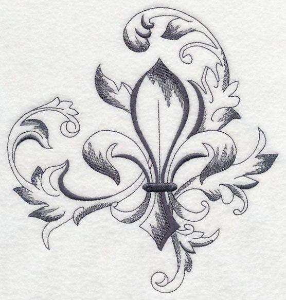 französische lilie vorlage