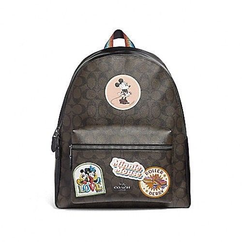 1ed9c369c4c NEW WOMEN S COACH X DISNEY (F29355) MINNIE MOUSE SIGNATURE LEATHER BACKPACK  BAG  Coach  BackpackStyle