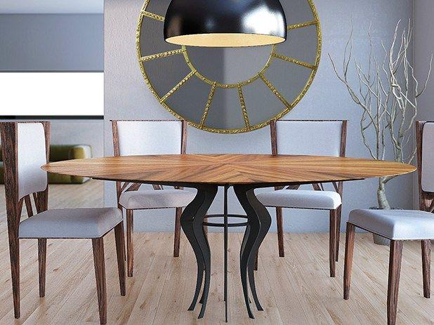 runder tisch aus holz fe kollektion world architects by malabar emotional design in 2019