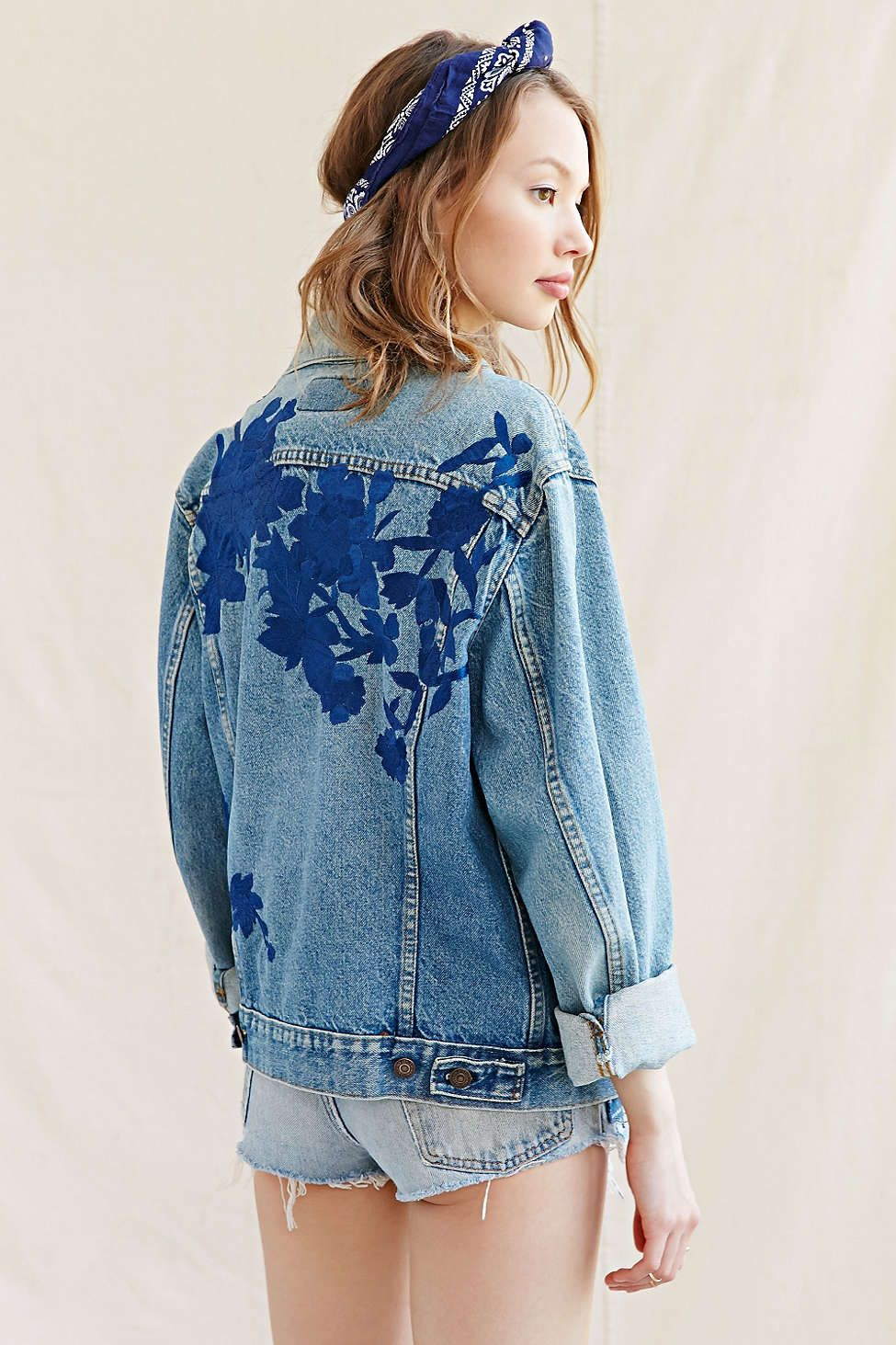 Click to Shop: Gucci Embroidered Denim Jacket