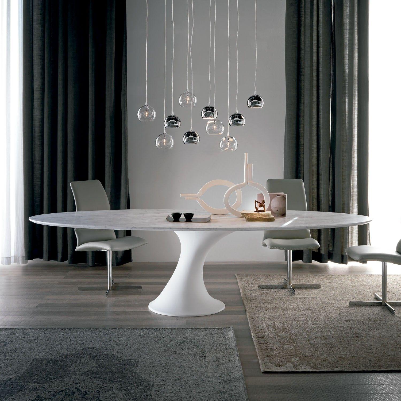 Contemporary dining table bases  Cattelan Italia Mesa comedor Reef Diseño Piero De Longhi Mesa de