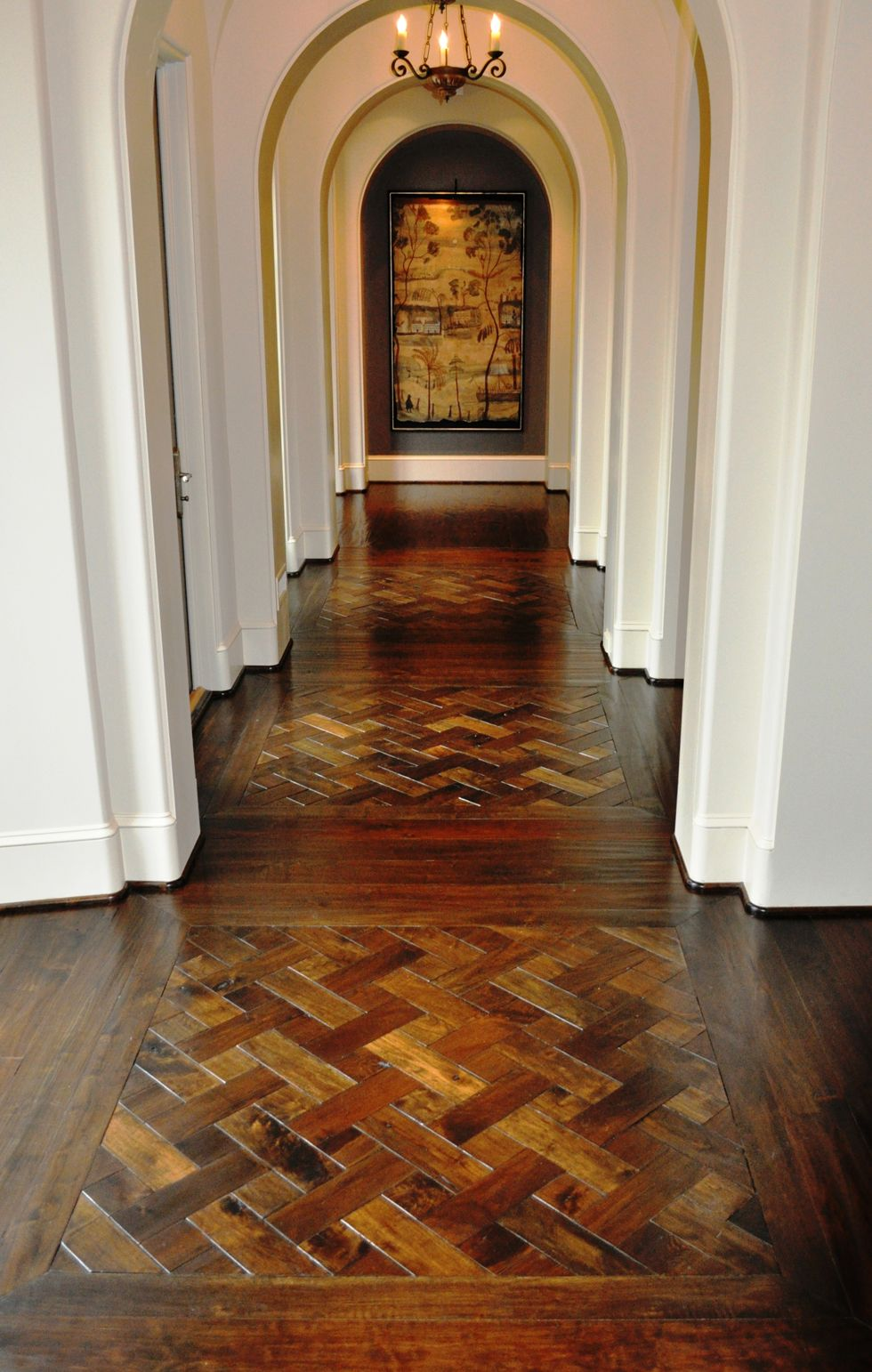 Darkstained White Oak D Parquet Floor From Allegheny Mountain - 3 dimensional floors