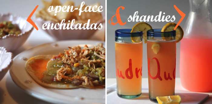 Carrie Bradshaw Lied: Open Enchiladas + Shandies