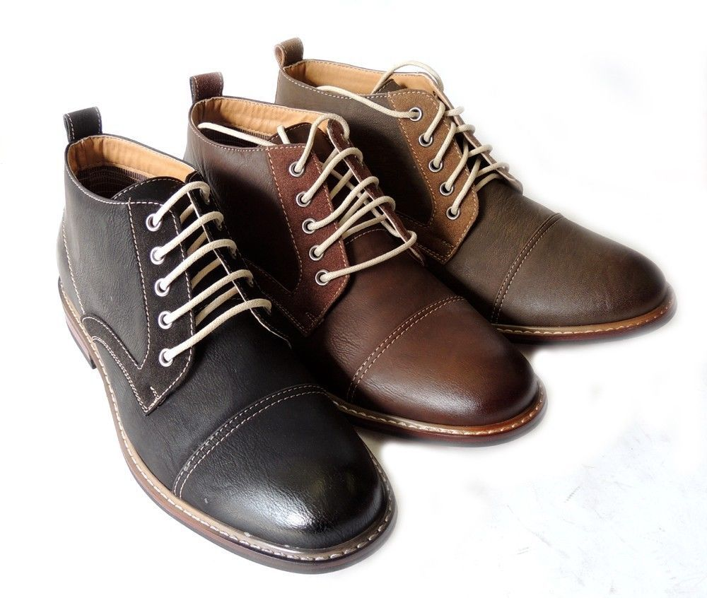 Details about *FERRO ALDO* MENS ANKLE BOOTS DRESSY CASUAL LEATHER ...